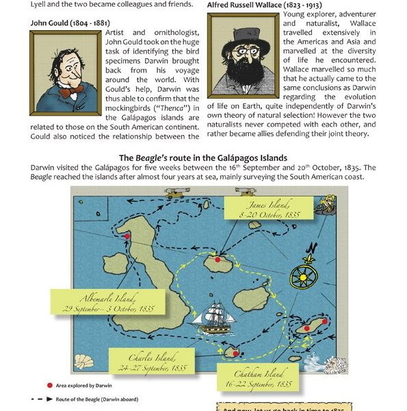 Teaching evolution in primary schools - The Beagle's route through the islands