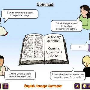 English Concept Cartoons - free samples - Using a comma