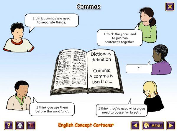 English Concept Cartoons - free samples - Using a comma
