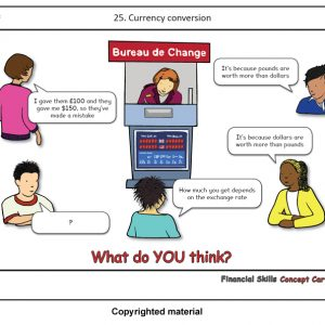 Teaching Financial Skills Concept Cartoons Currency Activity