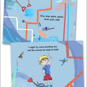 My mummy is a plumber - butterfly books - page 3