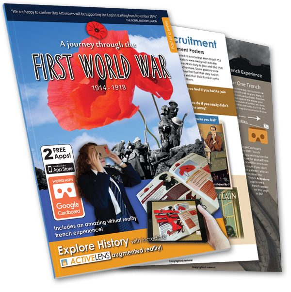 A journey through the first world war - ActiveLens - front cover